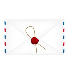 Wax sealed letter envelope vector image vector image