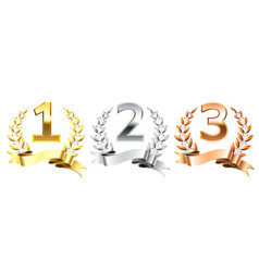 winner laurel wreaths golden laurels wreath for vector image