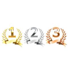 Winner laurel wreaths golden laurels wreath vector