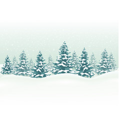 Winter landscape for christmas background vector
