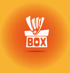 a box with a bow vector image vector image