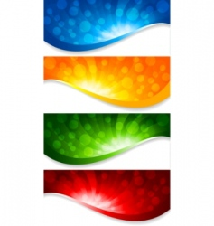 abstract collection of banners vector image vector image