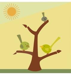 bird on a tree branch vector image vector image