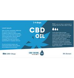 blue cannabis oil cbd oil marijuana leaf vector image