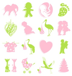 children themed items vector image vector image