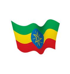 ethiopia flag vector image