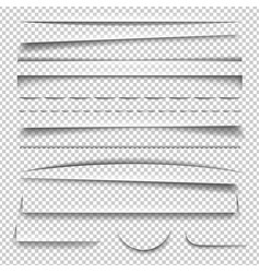 shadow effect set vector image