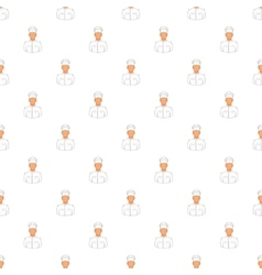 Cook pattern cartoon style vector image