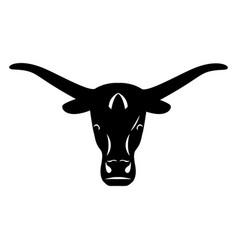 logo head of a bull icon buffalo vector image vector image