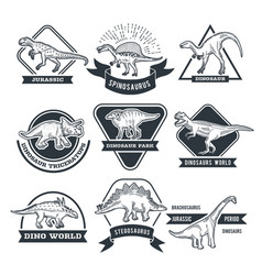 monochrome grunge labels set with different vector image vector image