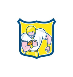American Football Fullback Shield Retro vector image vector image