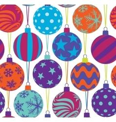 christmas tree balls seamless pattern vector image vector image