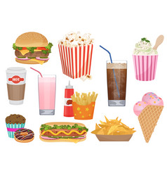 the set of of the different vector image