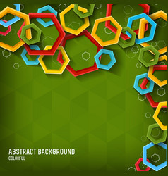 abstract geometric light template vector image vector image