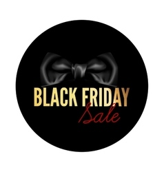 Black Friday sale black round tag vector image vector image