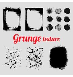 Grunge texture set frames splatter textures smear vector image