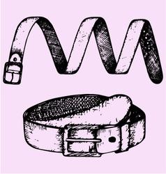Mans belt fashion accessory vector