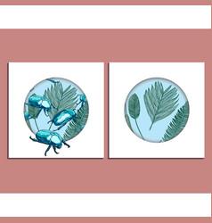 trendy summer background set vector image