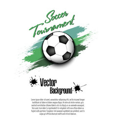 3529 - soccer tournament 2018 vector image