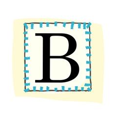 A view of alphabet vector