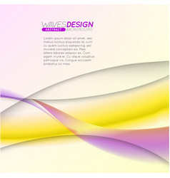 abstract background with colorful waves vector image