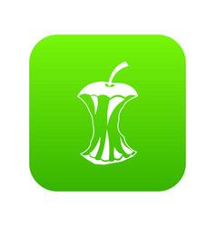 Apple core icon digital green vector