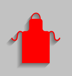 Apron simple sign red icon with soft vector