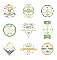 Archery club label set vector