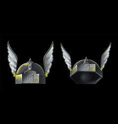 Armor helmet vector