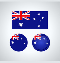 australian trio flags vector image