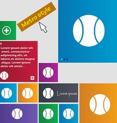 baseball icon sign buttons Modern interface vector image