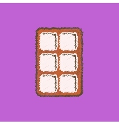 black icon on white background biscuits vector image