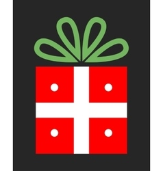 Bright festive gift Christmas packing Surprise vector image