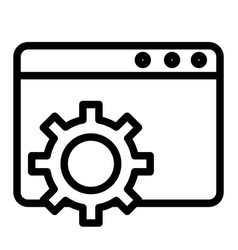 Browser settings line icon computer settings vector