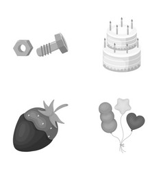 Building dessert and other monochrome icon in vector