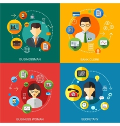 Business customers service and support concept vector