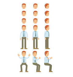 Businessman with guy standing and many motion vector