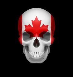 Canadian flag skull vector