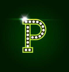 Casino and resort letter p luxury letter vector