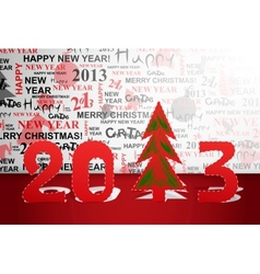 Celebrate 2013 year vector image