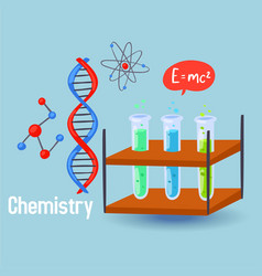 chemistry science design vector image