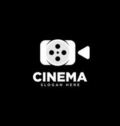 Cinema and movie logo design template vector