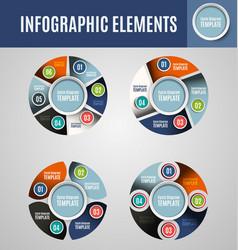 Circle infographics set 4 vector