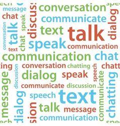 Communication text seamless pattern vector
