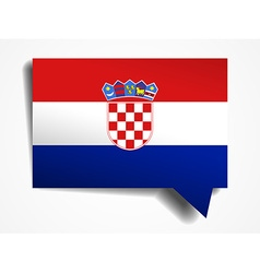 Croatia - paper 3d realistic speech bubble vector