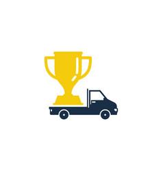 delivery trophy logo icon design vector image