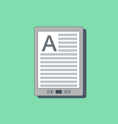 e-book icon in flat style vector image