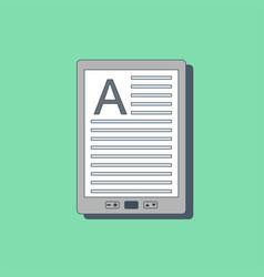 E-book icon in flat style vector