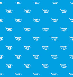 eyesight pattern seamless blue vector image