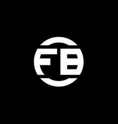 Fb logo monogram isolated on circle element vector